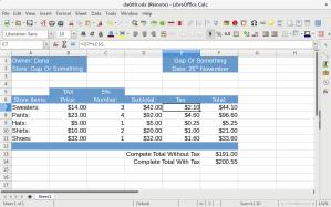 Spreadsheet assignment